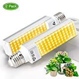 Haofy LED Plants Grow Light Replacement Bulbs with E26 Base, Full Spectrum Grow Lamp Blubs Sunlike for Indoor Plants Seedlings Growing Blooming Fruiting (2pcs Replacement Growing Bulb)