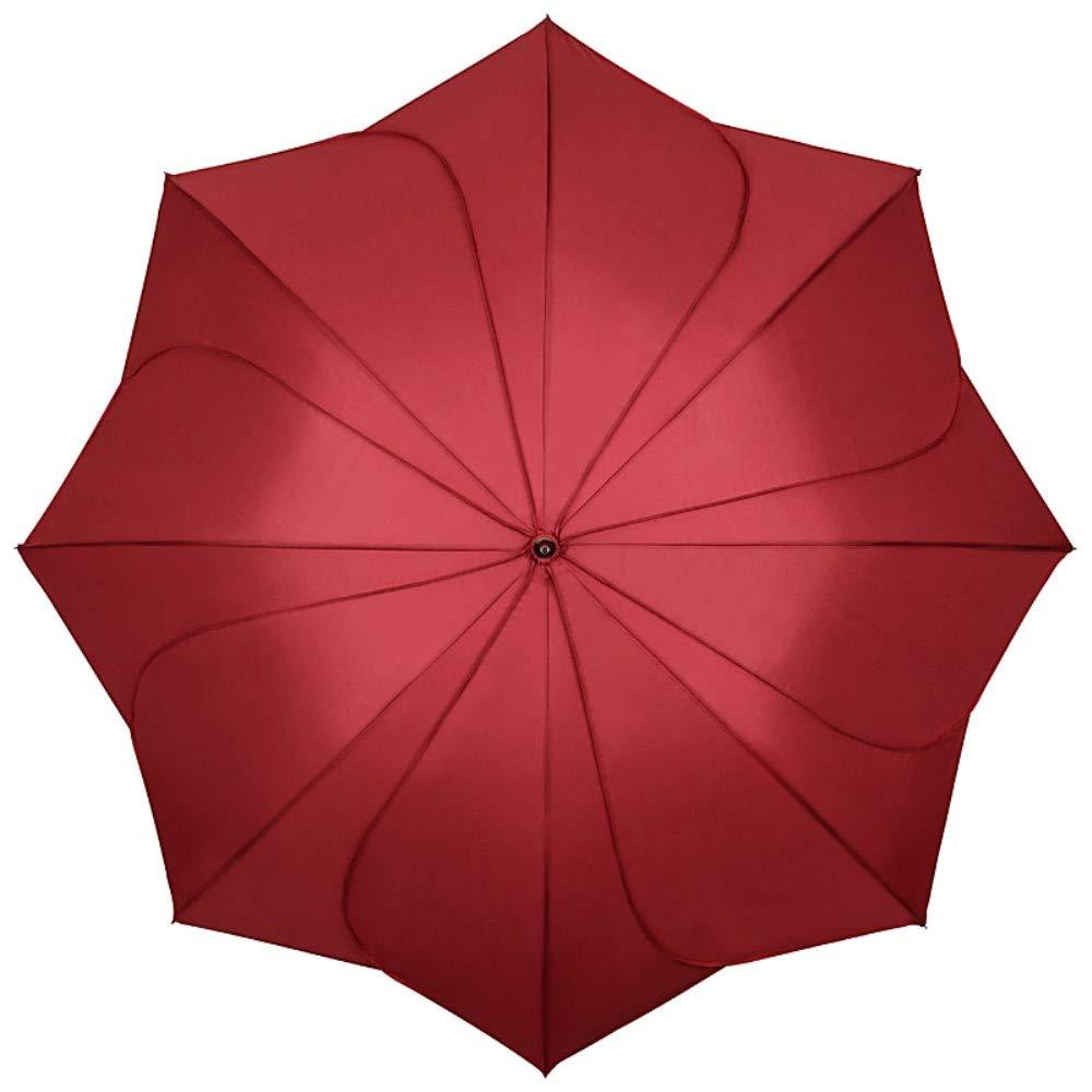 5e08ff4fc7ab VON LILIENFELD® Ombrello Donna Classico Lungo Matrimonio Parasole Minou  borgogna cuciture borgogna  Amazon.it  Valigeria