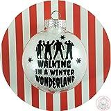 Walking Dead Christmas Ornament ~ Zombie Walking in a Winter Wonderland