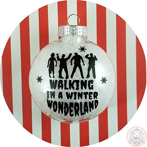 (Walking Dead Christmas Ornament ~ Zombie Walking in a Winter Wonderland)