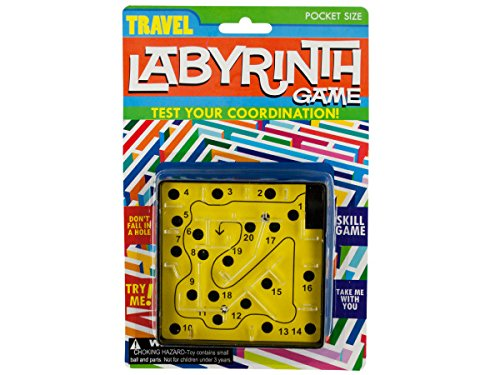 Bulk Buys KA309-96 Travel Labyrinth Game, 96 Piece by bulk buys