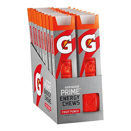 Gatorade Prime Energy Chews, Fruit Punch (Pack of 16) (Best Foods To Eat For Cramps)