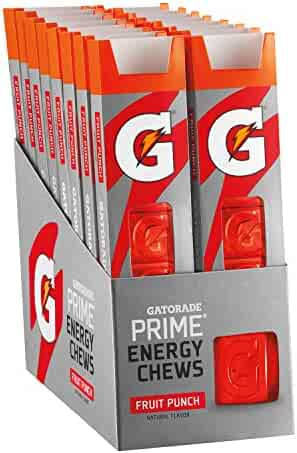 Gatorade Prime Energy Chews, Fruit Punch (Pack of 16)