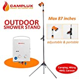 CAMPLUX ENJOY OUTDOOR LIFE Camplux Portable Poolside Outdoor Garden Shower with Tripod Stand