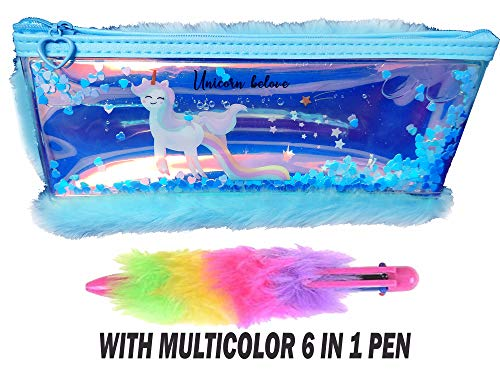 SHREE TECHNESH® Unique Duck Print Water Fur Pencil Pouch for Girls | Stationery Pouch for Girls | Pencil Box for Girls (Pink) (B08243JDZY) Amazon Price History, Amazon Price Tracker