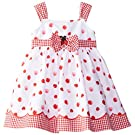 Blueberi Boulevard Baby Girls' Ladybug Sundress, Red/White, 12 Months