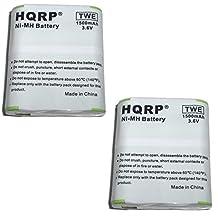 HQRP Two-Way Radio 1500mAh Battery Pack for Motorola m53615 / 53615, KEBT-071-A, KEBT-071-B, KEBT-071-C, KEBT-071-D, HKNN4002A Replacement + HQRP Coaster