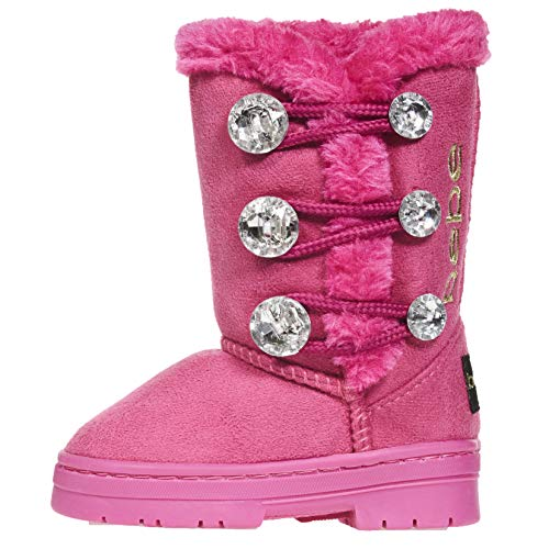 bebe Toddler Girls Winter Boots Size 9 Rhinestones