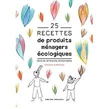 25 recettes de produits ménagers écologiques: Faciles, efficaces, économiques (French Edition)