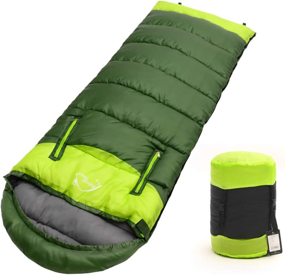 Lohastour Camping Sleeping Bag with Compression Sack – Lightweight, Portable, Waterproof, 3 Season for Adults Kids – Hiking, Camping, Outdooor