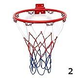 BleuMoo Wall Mounted Hanging Basketball Goal Hoop Rim Net