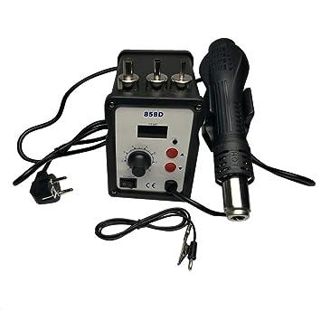 Soldadura eléctrica del hierro pistola de aire caliente Solder Kit de herramientas de reparación de doble uso de la exhibición de soldadura Estación de ...
