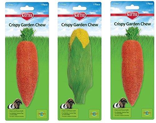 - (3 Pack) Kaytee Jumbo Crispy Garden Chew Toys - Assorted