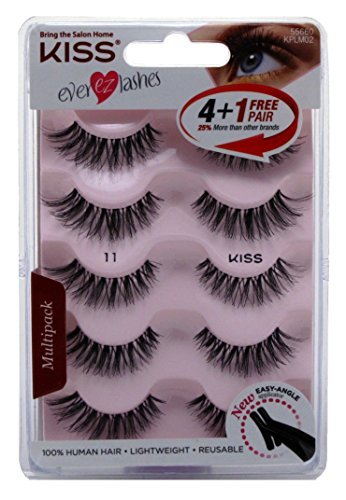 3a6b54e01d0 Amazon.com: Kiss Ever Ez Lashes (5 Pairs): Home & Kitchen