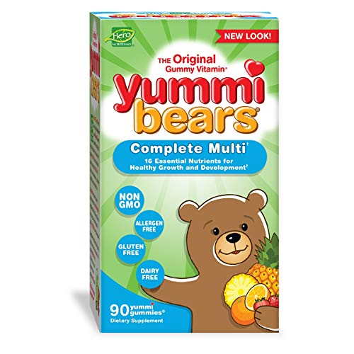 Yummi Bears Complete Multivitamin and Mineral Supplement, Gummy Vitamins for Kids, 90 Gummies