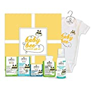 Zarbee's Naturals Baby Bee Essentials Gift Set, with Saline Nasal Mist, Chest Rub, Vitamin D, Gripe Water, Cough Syrup + Mucus & Zarbee's Romper