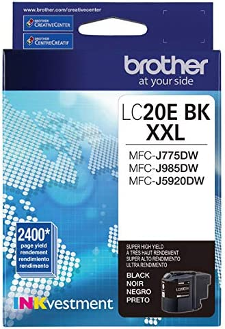 Amazon.com: Brother LC20EBK cartucho de tinta de alto ...