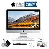 Apple iMac MK462LL/A 27-Inch Retina 5K Desktop (3.2 GHz Intel Core i5, 8GB DDR3, 1TB) Essentials Bundle - With 2 Year Extended Warranty + Ear Buds, Corel Software, and more.