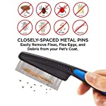 Flea Comb,Pet Comb Laiannwell Professional Grooming Comb for Dog/Cat/Small Pets (3 Packs) 8