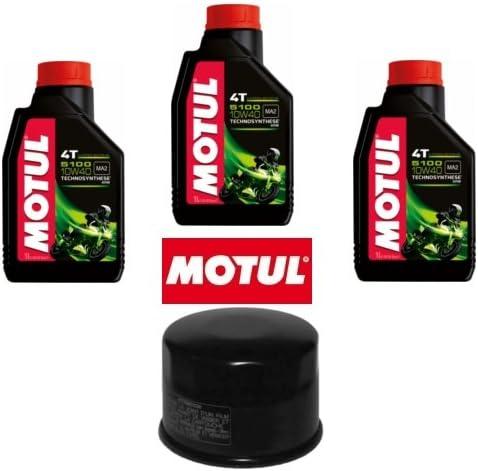 Kit para revisión de filtro de aceite + 3 litros de aceite Motul ...