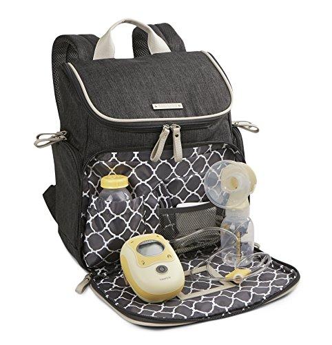 Bananafish Breast Pump Back Pack, Grey Heather by Bananafish (Image #4)