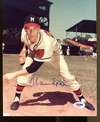 Warren Spahn Signed Photo 8x10 Autographed Braves PSA/DNA AD93270 (Spahn Photograph)