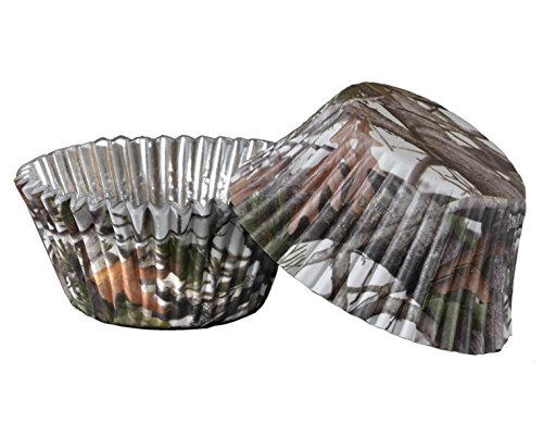 Military Hunting White Camo Cupcake Liners (36 Pack, Foil Backed) White Camo Party Collection by Havercamp