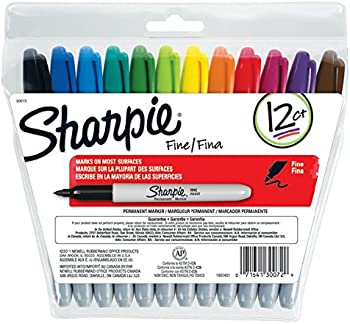 12-Count Sharpie Permanent Markers