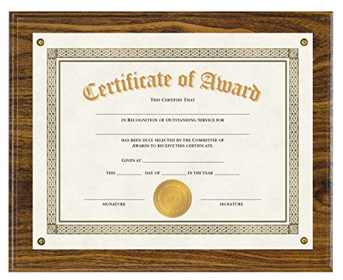 Victory Light Walnut Finish Wood Award Plaque, 1,