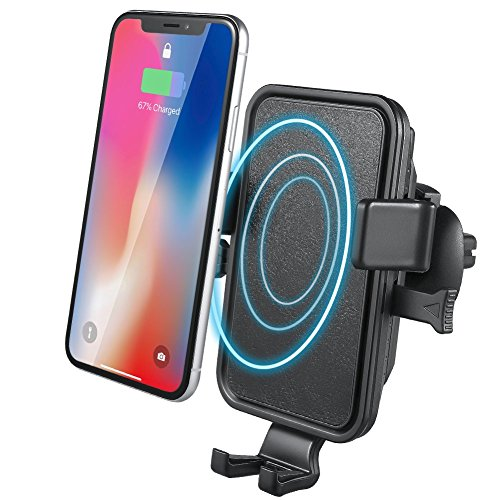 Price comparison product image Wireless Car Charger, NOVETE Air Vent Phone Holder Gravity Car Mount Charger for iPhone X, 8/8 Plus, Fast Charging for Samsung Galaxy S9/ S9 Plus, S8/ S8 Plus, S7, S7 Edge/ S6 Edge Plus, Note 8/5