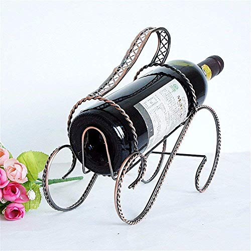 1949shop Wine Rack Plating Rust-Proof Bronze Creative Handcuffs ()