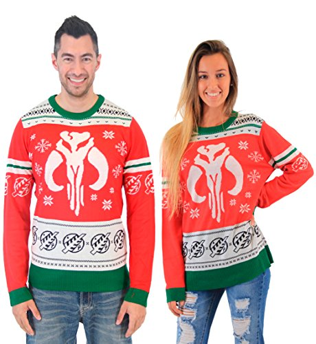 Star Wars Bounty Hunter Snowflakes Unisex Sweater