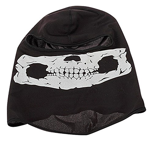 Maze Scary Tactical Black White Skull Face Outdoors Paintball Balaclava Mask, 2- One Size (Homemade Costume Face Paint)