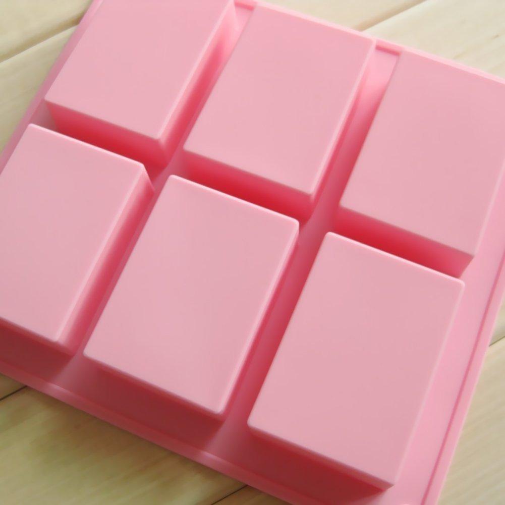 Uni Basic Rechteck Silikon Form f�r Homemade Craft Seife Schimmel Kuchen Form 2�St�ck Biscuit Schokolade Schimmel Ice Cube Tablett 6�Mulden