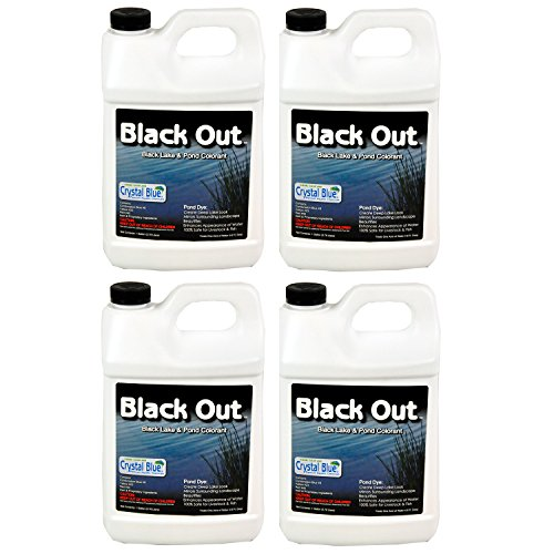 Sanco Crystal Blue Black Out Reflective Pond 1 Gallon Surface Colorants, 4-Pack by Crystal Blue