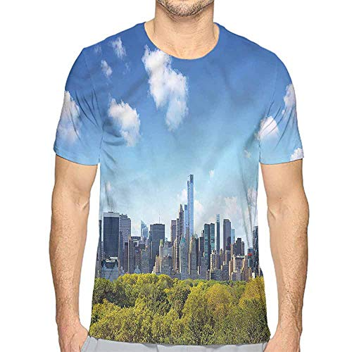 Jinguizi t Shirt City,Central Park Midtown NYC Printed t Shirt -