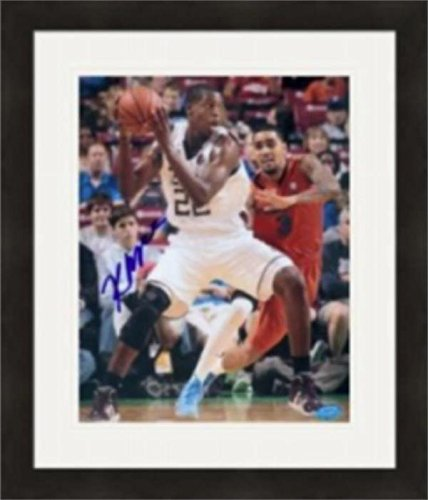 Khris Middleton Signed Picture - 8x10 Texas AM Aggies) #1 Matted & Framed - Autographed NBA Photos