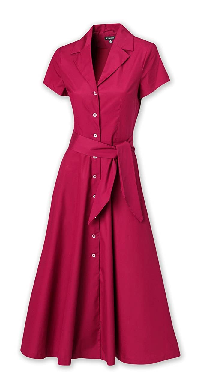 1940s Plus Size Dresses | Swing Dress, Tea Dress Short-Sleeve 1947 Dress $204.70 AT vintagedancer.com