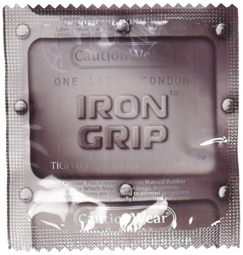 Caution Wear Iron Grip Snugger Fit Condoms (100 (Snugger Fit Condoms)