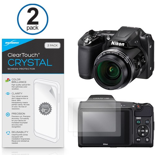 BoxWave Nikon Coolpix L840 ClearTouch Crystal (2-Pack) Screen Protector - Ultra Crystal Film Skin to Shield Against Scratches for Nikon Coolpix L840