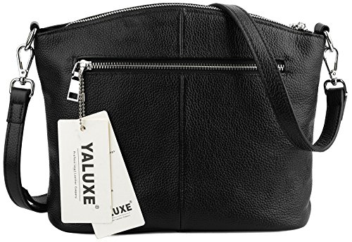 Cross Casual UPDATED Small Leather VERSION Women's Bags Black Blue Body Genuine Navy Satchel Yaluxe aSWSTn0