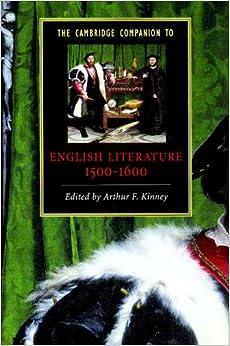 The Cambridge Companion to English Literature, 1500-1600