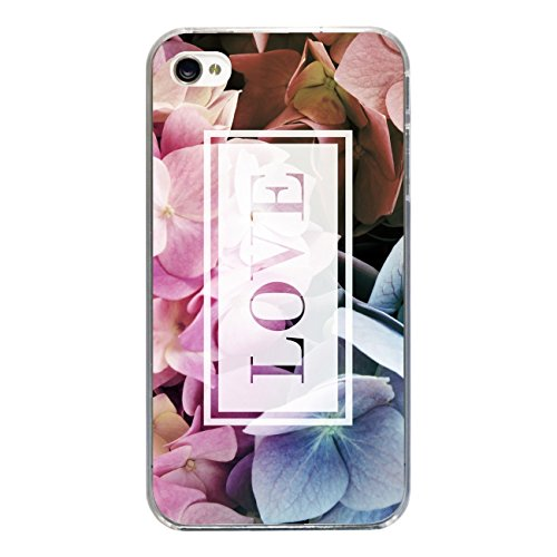 "Disagu Design Case Coque pour Apple iPhone 4 Housse etui coque pochette ""Hortensie_Love"""