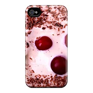 Awesome Vanilla Ice Cream Flip Case With Fashion Design For Iphone 4/4s