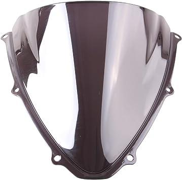 Artudatech Windshield WindScreen Double Bubble For Suzuki GSXR 600//750 2006-2007 K6 Black丨ABS Plastic Injection丨OEM Style