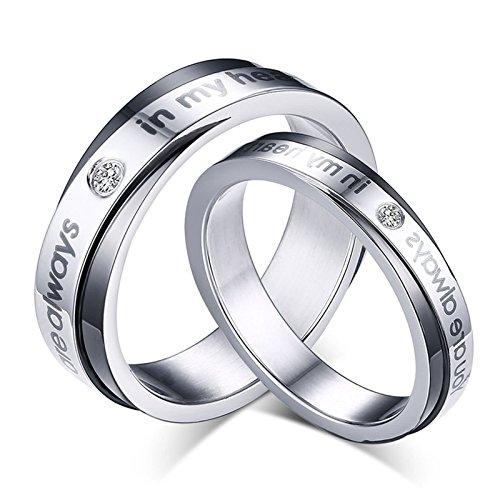 4166396da64d 60% de descuento KNSAM - anillos de bodas de acero inoxidable para pareja