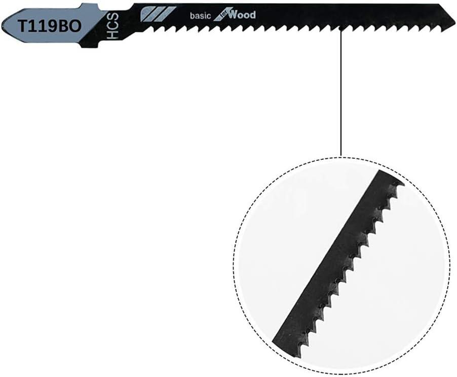 CUHAWUDBA 20 Piezas T119BO 12 TPI Surtido de Hojas de Sierra Caladora de Desplazamiento con V/áStago en T para Cortar Madera con Precisi/óN