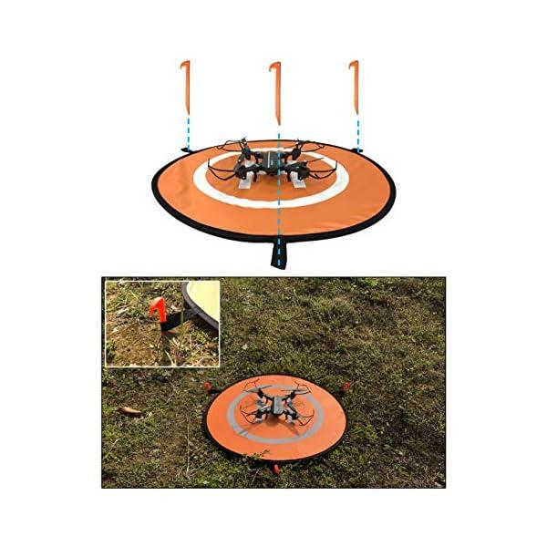 Sipobuy Universale Impermeabile Portatile Pieghevole Drone Landing Pad/Grembiule, Applicabile RC Droni Elicottero, PVB Droni, DJI Mavic PRO Phantom 2/3/4 PRO, Antel Robot, 3DR Solo (75cm) 5 spesavip