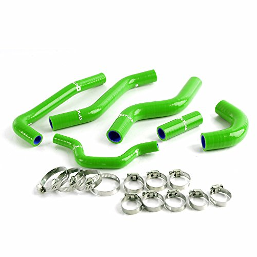 Silicone Radiator Coolant Hoses Kit Clamps For Kawasaki KXF250 KX250F 2006-2008 Green