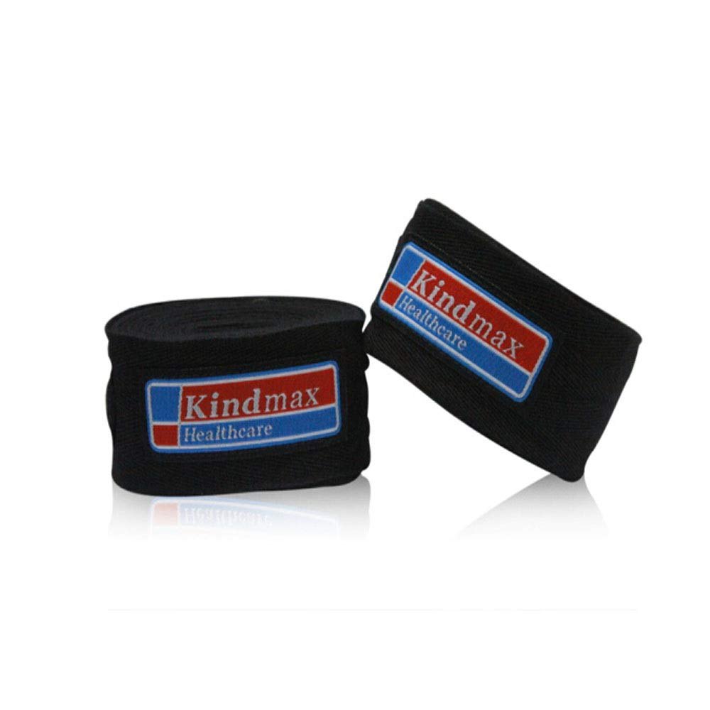 XIAONINGMENG Boxing Bandage, Cotton Hand Strap, Muay Thai Boxing Wrap Band, Black/White/Blue/Red/Yellow, 3m/5m, The Best Choice for Boxing Enthusiasts (Color : Black, Size : 3 Meters) by XIAONINGMENG